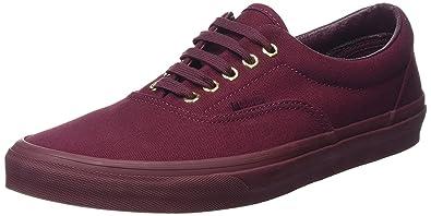 vans shoes slip on burgundy