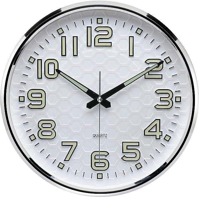 1X LED Digital Time Wall Clock With PIR Motion Sensor Night Light Clock Lamp US