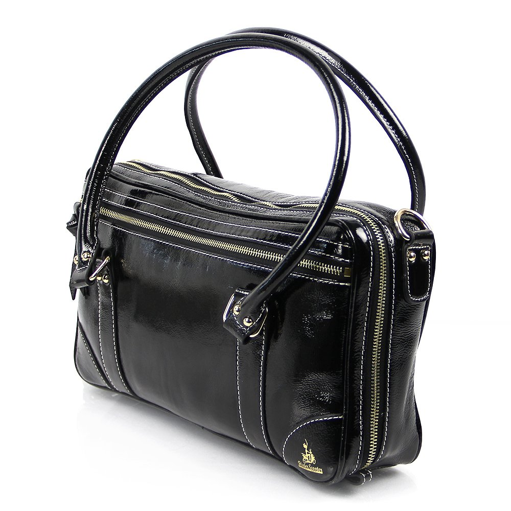 Fluterscooter Black Patent Leather Oboe Bag