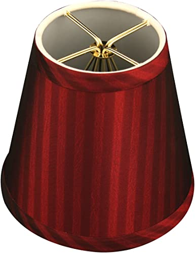 Red 3 x 5 x 4.5 Set of 6 Royal Designs CS-1002-5RED-6 Clip On Empire Chandelier Lamp Shade