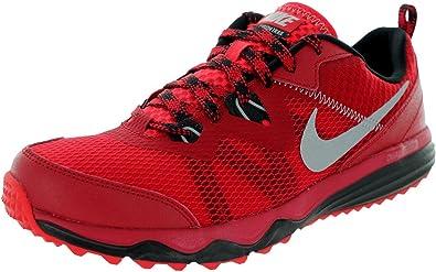 Nike Dual Fusion Trail para hombre Zapatillas de Running de los deportes de para sillita de zapatillas de protectores de calcetines para, color rojo, talla 43,5: Amazon.es: Zapatos y complementos