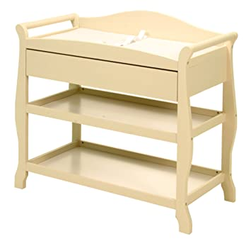 Storkcraft Aspen Changing Table With Drawer, Antique White (Discontinued By  Manufacturer)