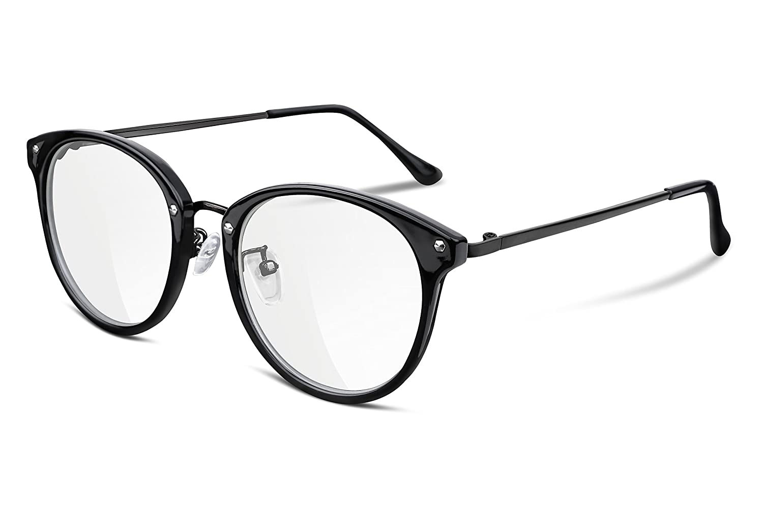 53525256a37 FEISEDY Clear Lens Glasses Frame Cozy Composite Frame Eyewear Women Men  B2260  Amazon.co.uk  Clothing