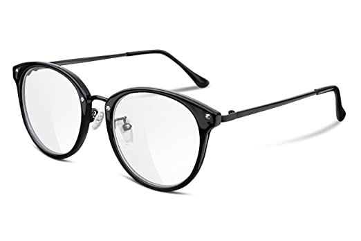 Amazon.com: FEISEDY Clear Lens Glasses Frames Cozy Composite Frame ...