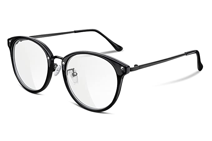 Amazon.com: FEISEDY Vintage Round Eyewear Non Prescription Glasses ...