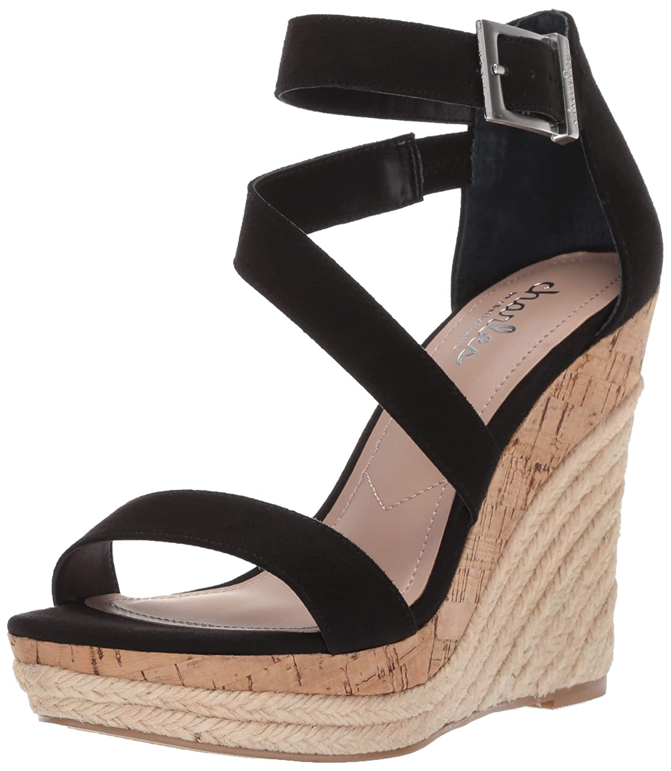 Black Charles by Charles David Womens Adrielle Wedge Sandal