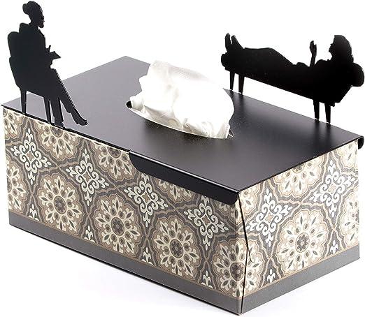 Compra Cubierta de caja de pañuelos rectangular en su tratamiento - Regalos de psicólogo, decoración de oficina de terapeuta - Caja plana para pañuelos en Amazon.es