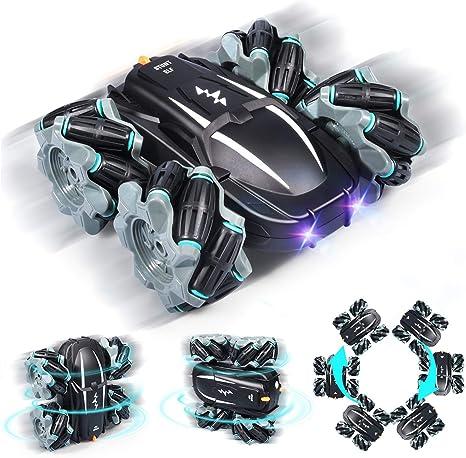 Zosam4WheelDriftRemoteControlRacingCar RC Off-RoadStuntDrift Toy withHeadlights Sounds360°High-SpeedRotation ElectricCharging-TheBestGiftforChildren&Kids (Black)