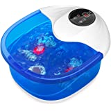Foot Bath Misiki Foot Spa Massager with Heat, Bubbles Vibration, Red Light and Temperature Control, Pedicure Foot Spa Tub wit