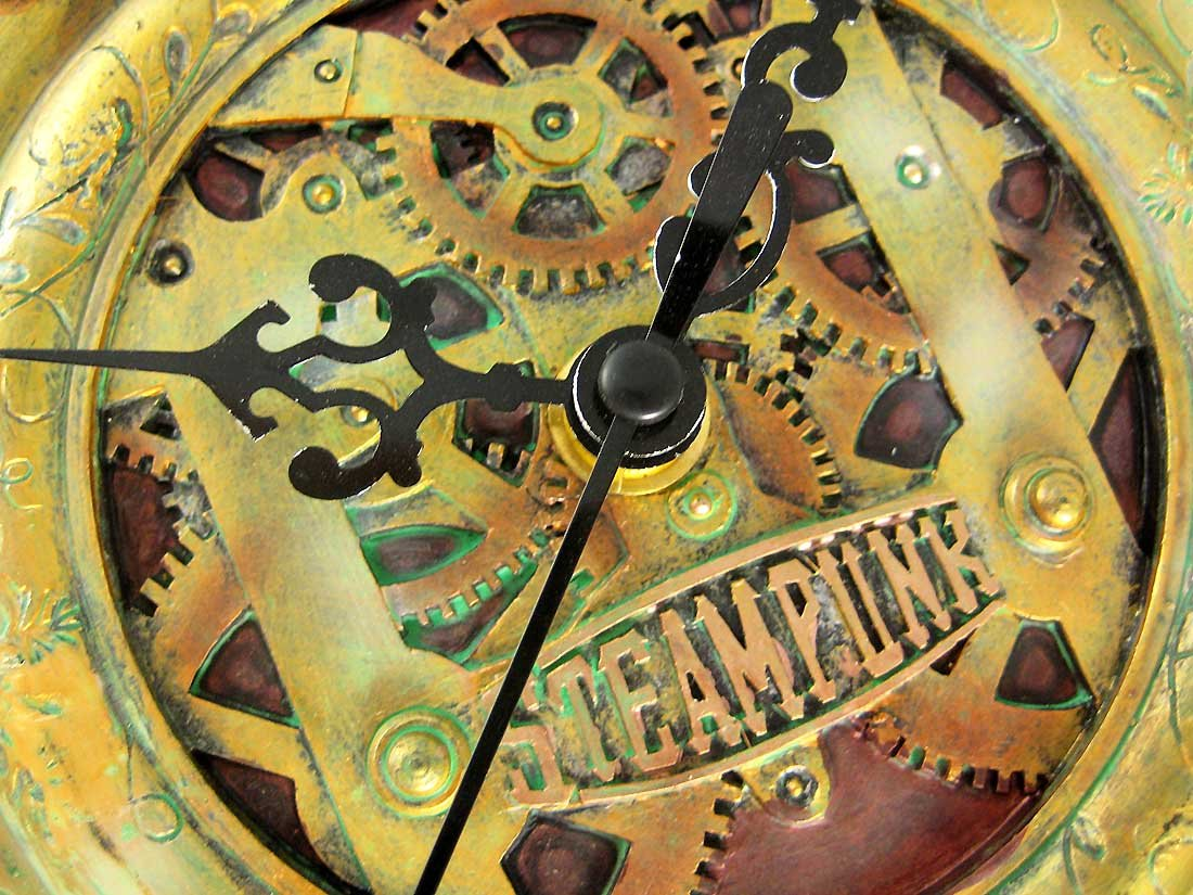 Cool 3-D Steampunk Wall Clock Steam Punk Sci-Fi