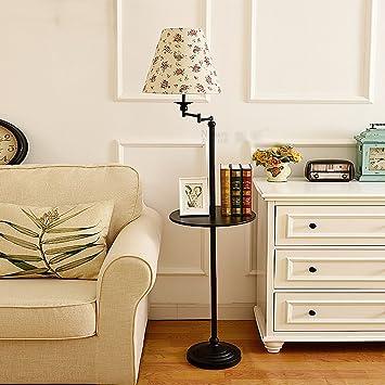 NAUY- Lámpara de pie para sala de estar Dormitorio ...