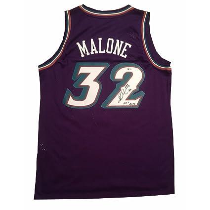 Karl Malone Autographed Utah Jazz Signed Hall of Fame HOF Swingman ... ea7199e0a