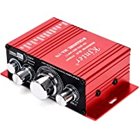 Car Audio Amplifier Power Cord DC 12V 3A, 20W + 20W Dual Channel Digital Mini HiFi Stereo Power Amplifier Handover AMP…