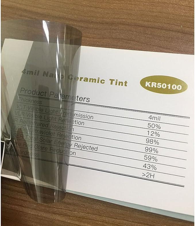 Hoho Pour vitres arri/ère et lat/érales Film teint/é pour fen/être de voiture R/égulation de la chaleur Nano c/éramique solaire Protection de la vie priv/ée