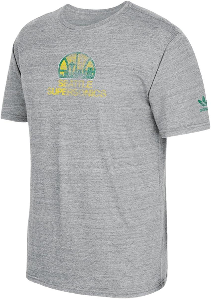 Rissa pronuncia Moderare  adidas Seattle Supersonics Vintage Big Better Retro Logo Premium T-Shirt:  Amazon.co.uk: Sports & Outdoors