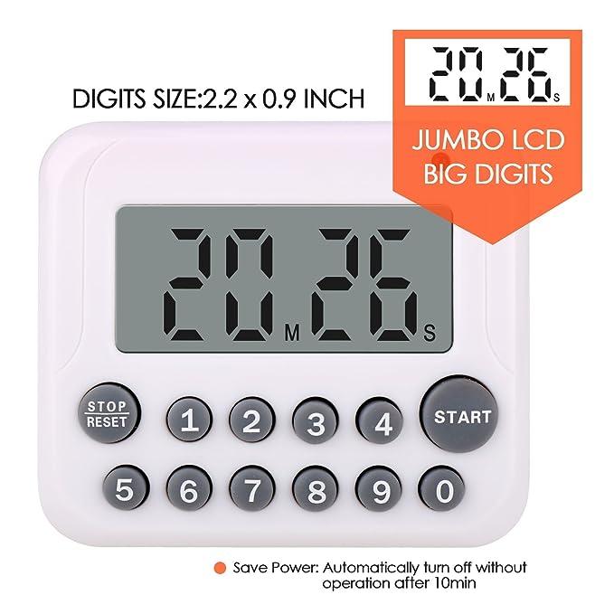 Wimaha Temporizador de cocina digital con alarma sonora ...