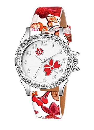 81048a863 Buy Watch for Girls Diamond Analogue Watch for Girls & Women Red Butterfly  Watch for Women/Watch for Girls/Ladies Watch/Red Color Watch Online at Low  Prices ...