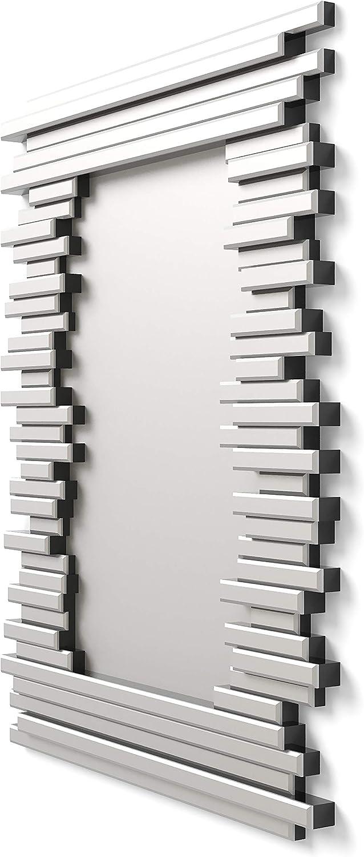 Stanza da Letto Specchi Decorativi Moderni di Pareti  Specchi Decorazione per Il Tuo Soggiorno Ingresso DekoArte E033 90x70cm Lobby Specchi Sofisticati Grandi 3D Rectangulare Colore Argento