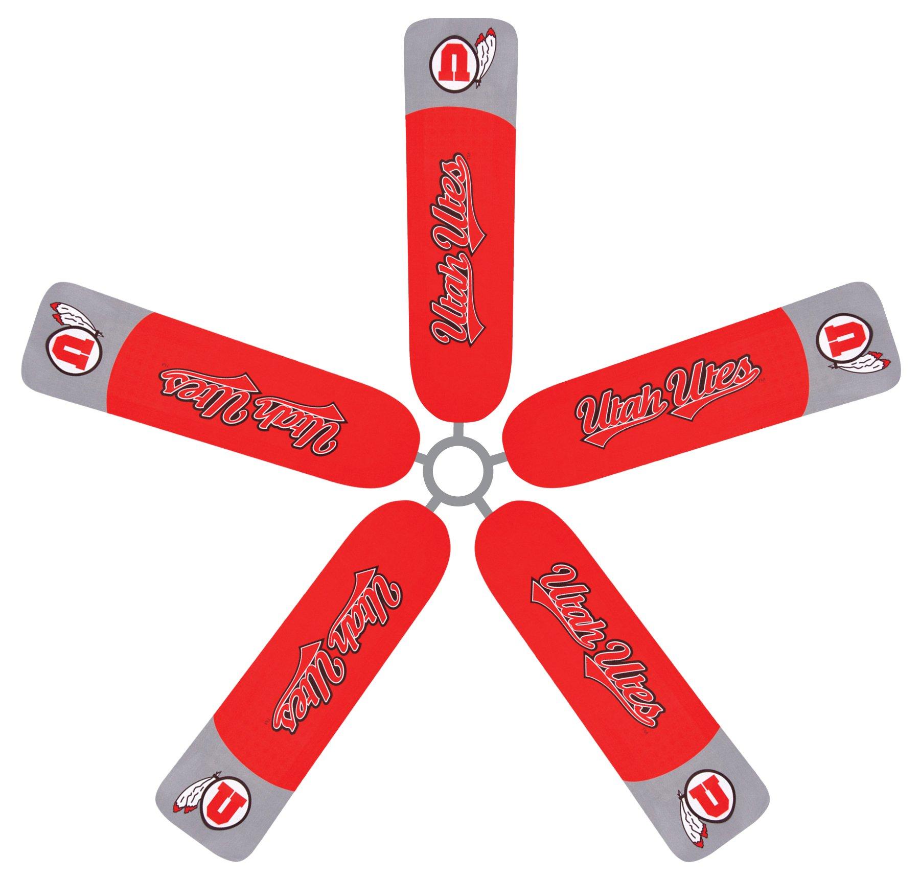 Fan Blade Designs University of Utah Utes Ceiling Fan Blade Covers