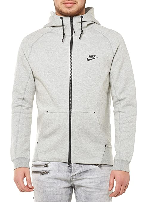4c6d8dab734e7 Nike Tech Fleece AW77 Sweat à capuche pour homme XL Gris Negro (Dk Grey