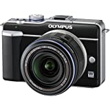Olympus E-PL1 Compact System Camera - Black (14-42mm Black Lens Kit)