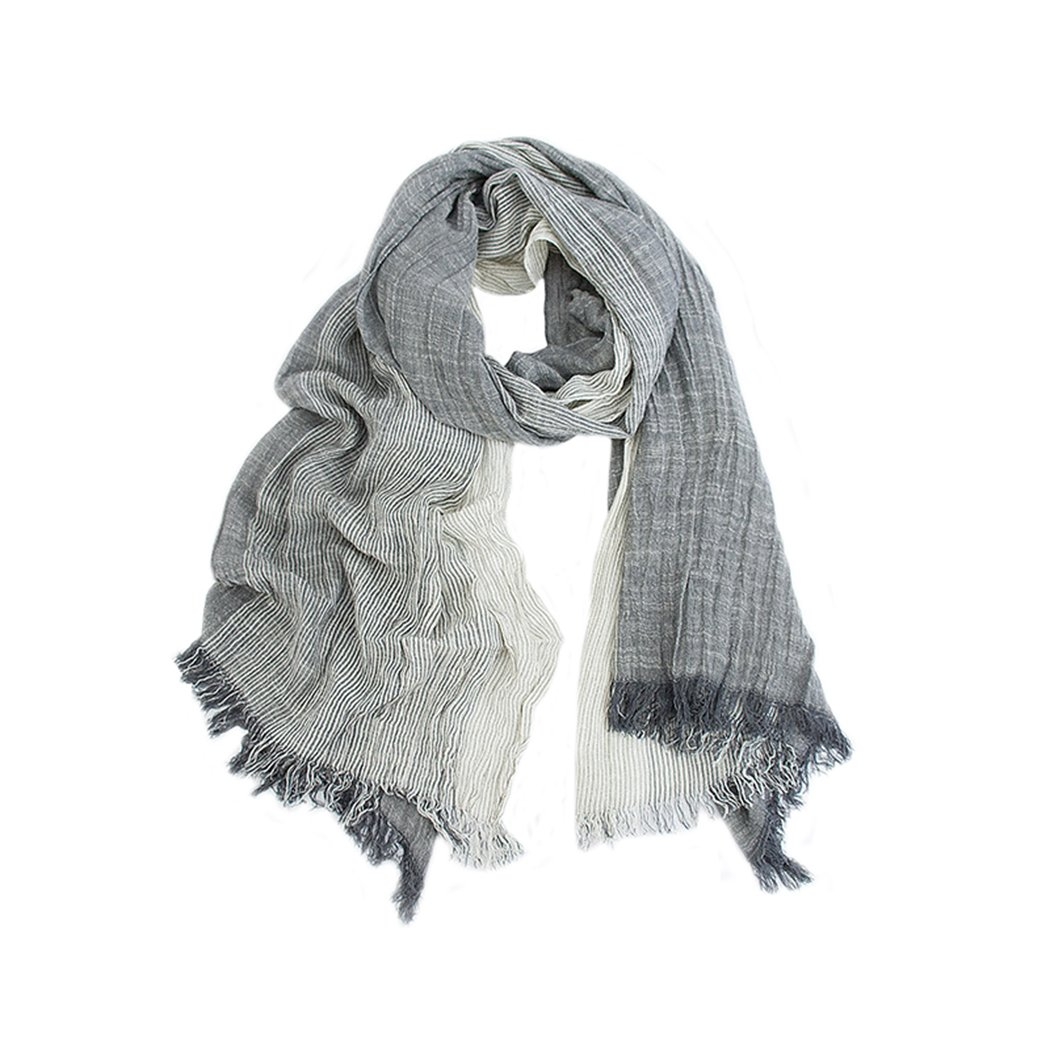 Shakimama Literary lady's linen striped scarf Sunscreen shawl