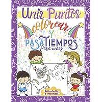 Unir puntos colorear y pasatiempos para niños: Aprender repasando - Libro para colorear para niños a partir de 5 años…