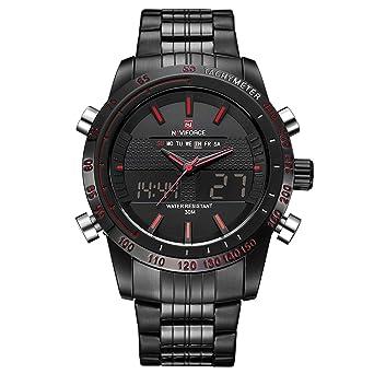 Quarz-uhren Uhren Naviforce Männer Uhren Digitale Wasserdichte Uhr Männer Armbanduhren Quarz Militär Herren Uhr Analogico Digital Herren Uhren