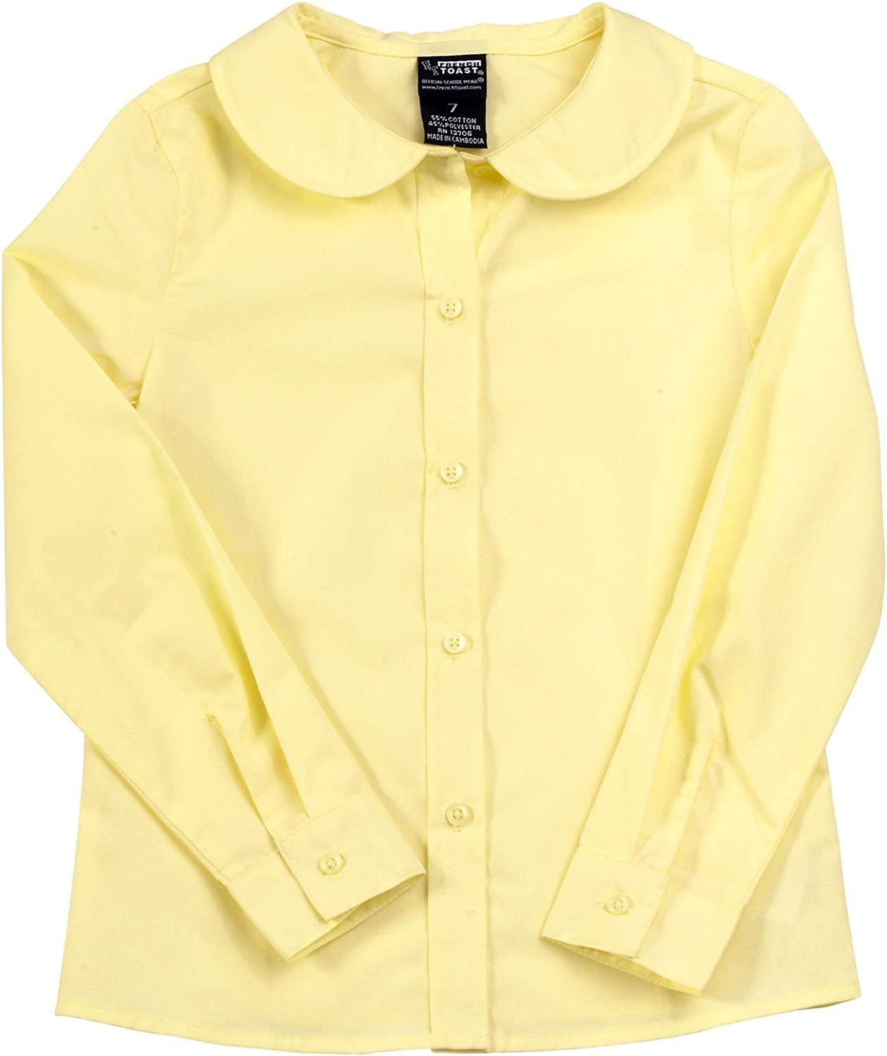 20 Yellow French Toast Girls Long-Sleeve Peter Pan Blouse