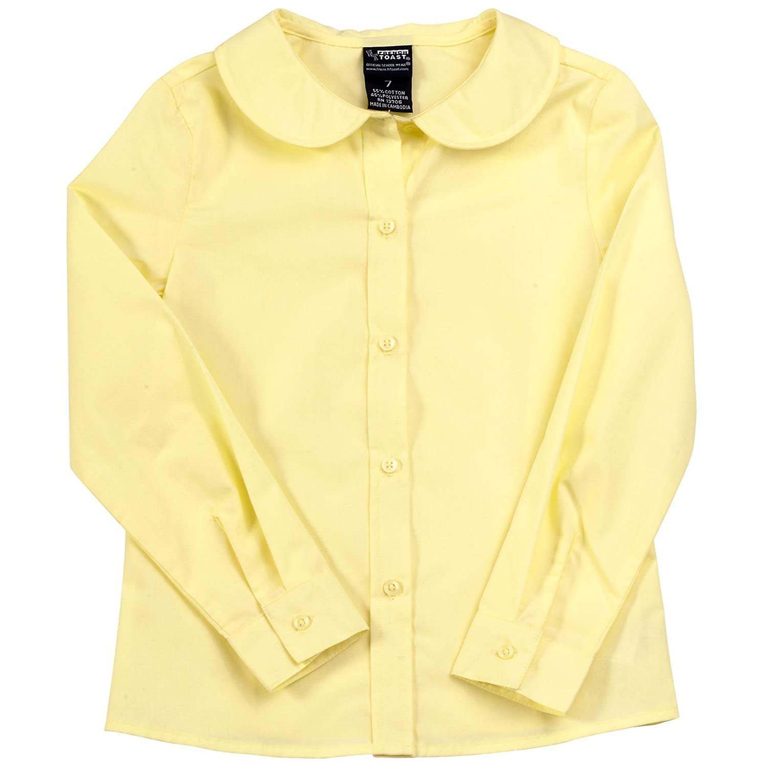 20 French Toast Girls Long-Sleeve Peter Pan Blouse Yellow