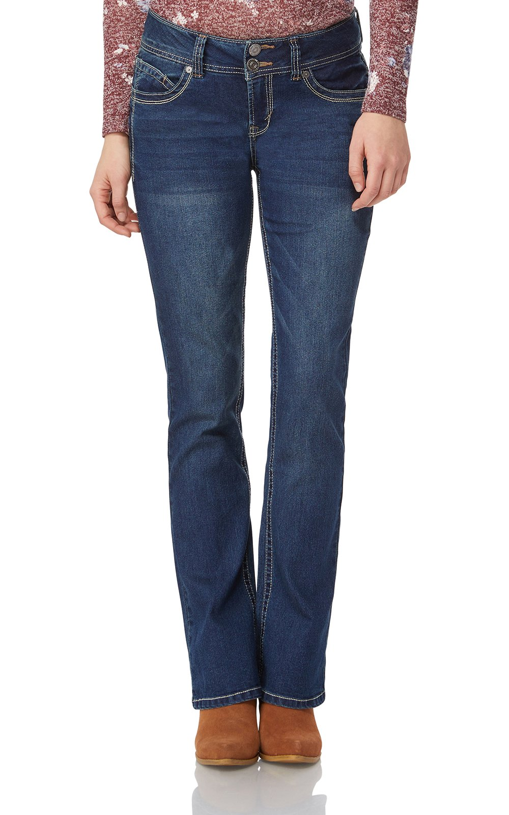 WallFlower Juniors Luscious Curvy Basic Bootcut Jeans in Katy Size:13