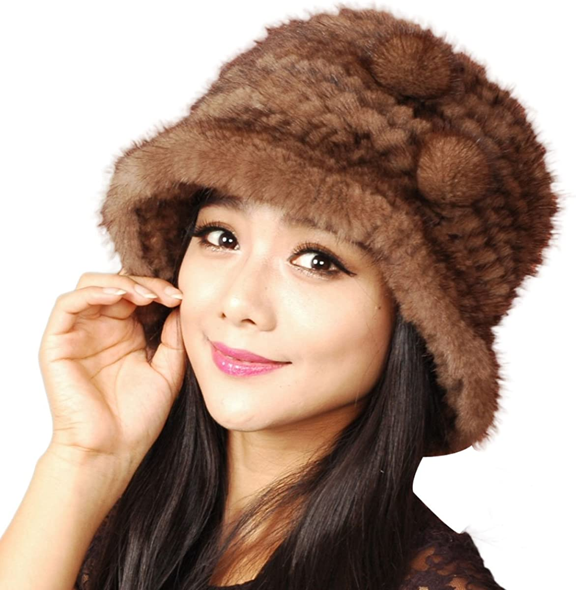 URSFUR Women's Mink Fur...