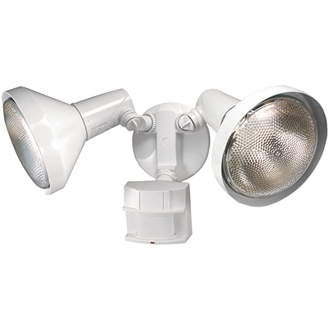Amazon.com: New Heath Zenith Hz-5412-wh White Motion Sensor Twin Halogen Flood Light 6745855