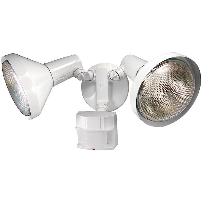 Amazon.com: New Heath Zenith Hz-5412-wh White Motion Sensor Twin Halogen Flood Light 6745855