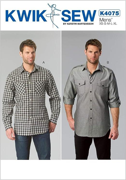 Simplicity Mens Sewing Pattern 1544 Smart Long Sleeve Shirts Simplicity-1544-M