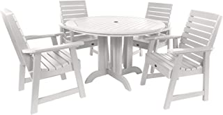 product image for highwood AD-DNW48-WHE Weatherly 5-Piece Round Dining Set, Height, White