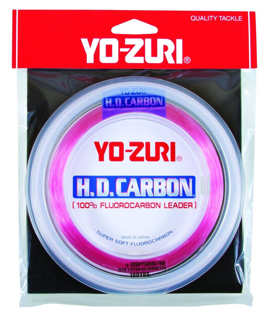 Yo-Zuri H.D. Fluorocarbon Wrist Spool 100-Yard Leader Line, Pink, 80-Pound