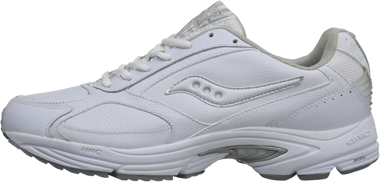 Saucony Men's Grid Omni Walking Shoe,White/Silver,10 M Blanc Argenté