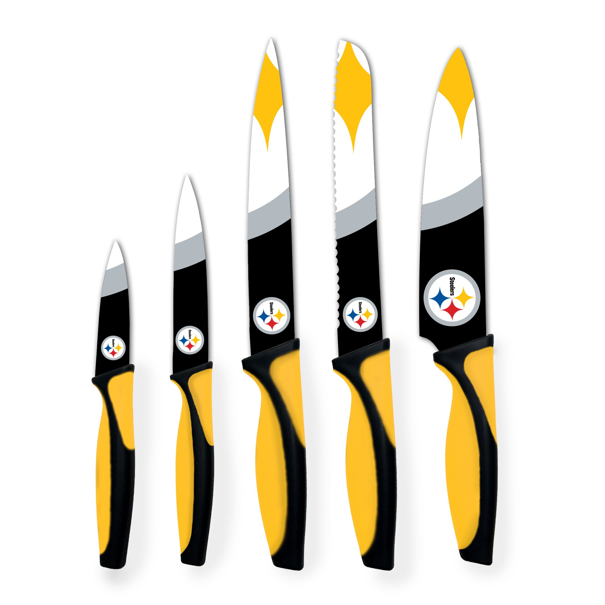 Sports Vault NFL Pittsburgh Steelers Kitchen Knives by sportsvault