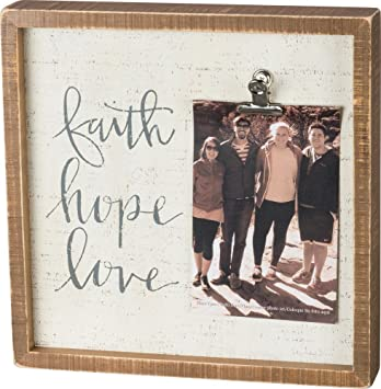 Amazoncom Inset Wooden Picture Frame With Painted Quotation