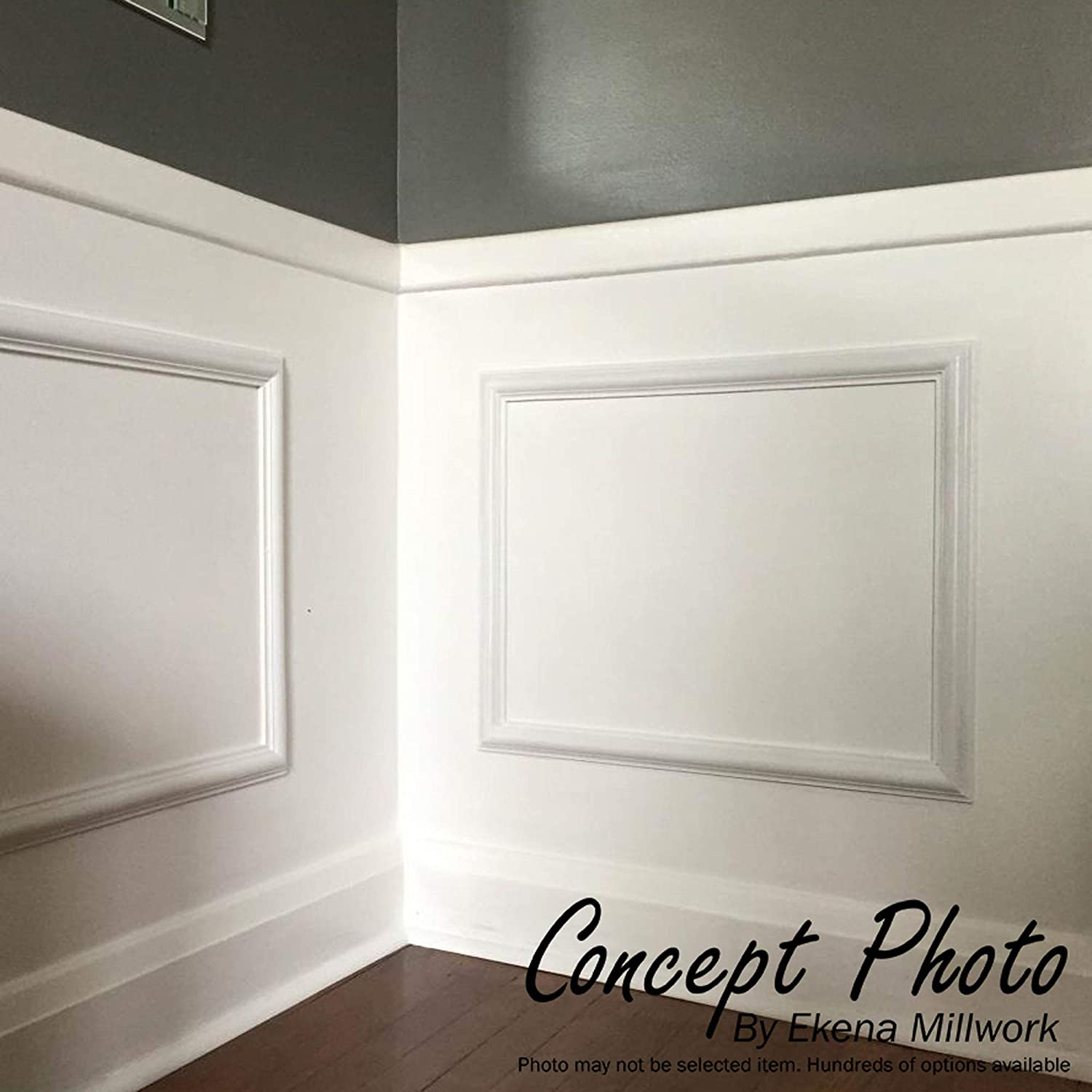 2-Pack Ekena Millwork PNL08X16AS-02-CASE-2 8W x 16H x 1//2P Ashford Molded Scalloped Wainscot Wall Panel x x Factory Primed White 2 Piece