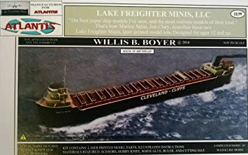 Willis B Boyer Great Lakes Freighter Boat Paper Model Atlantis Toy and Hobby