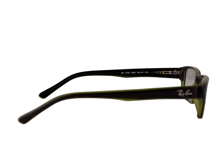 39cb15b67b076 ... get ray ban rx5169 eyeglasses 52 16 140 dark havana transparent green  2383 rx 5169 amazon
