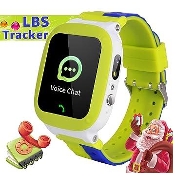 YENISEY Kids Smartwatch,TeléFono A Prueba de Agua LBS Tracker SOS ...