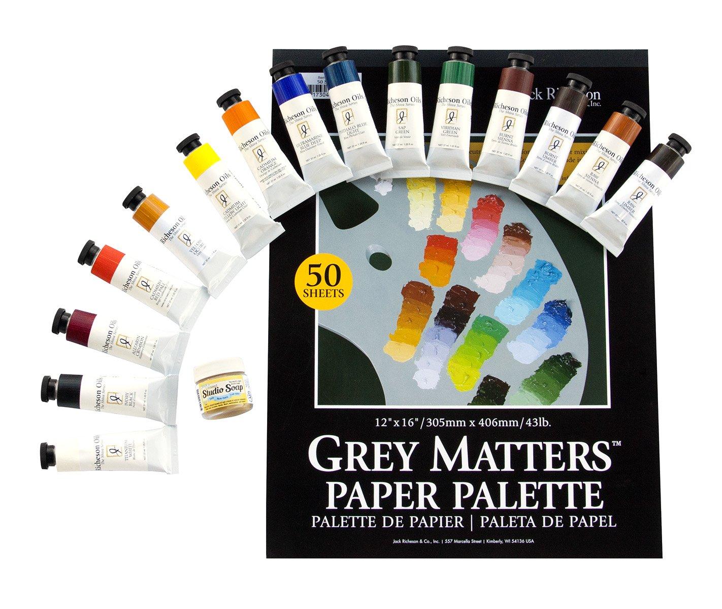 Alan Flattmann AF002 Oil Paints & Palette Set