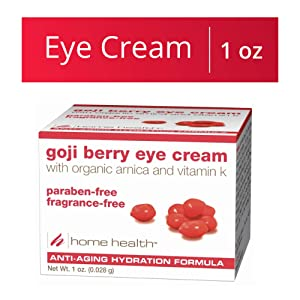 Home Health Goji Berry Eye Cream - 1 oz - Anti-Aging, Firming & Hydrating Formula, Reduces Under Eye Swelling, Soothes Skin Puffiness - Fragrance-Free, Paraben-Free, Vegan