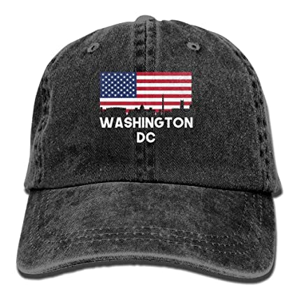 ruishandianqi Gorras béisbol Washington DC American Flag Denim Hat Adjustable Male Dad Baseball Hat
