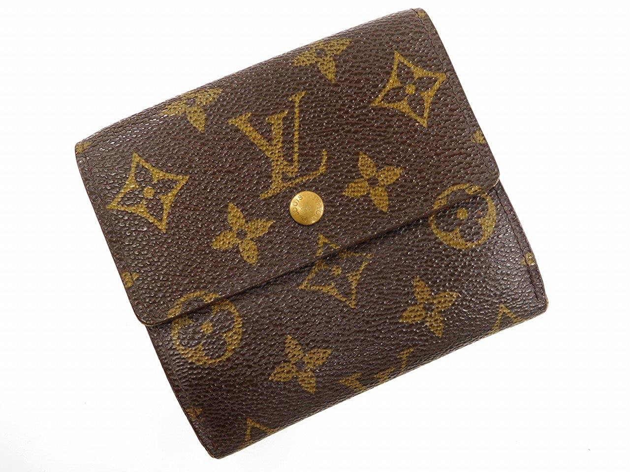 [ルイヴィトン] LOUIS VUITTON 二つ折り財布 モノグラム M61652 PVC×レザー X16236 中古   B076F3C7TC