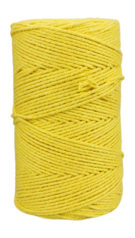 100 m Basteln Verschenken Bastelschnur f/ür Hobby einfarbiges Bakers twine aus reiner Baumwolle Dekoration Gelbes B/äckergarn
