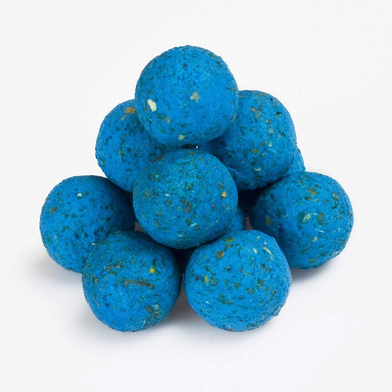 BAT-Tackle/B/öse Boilies Fluo Pop Ups 16mm Blazing Blue blau